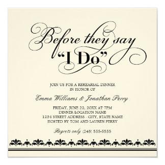 Votos de casamento do convite   do jantar de