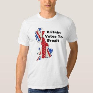 Votos de Grâ Bretanha do t-shirt a Brexit