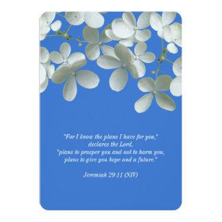 Votos de renovação azuis e convites florais