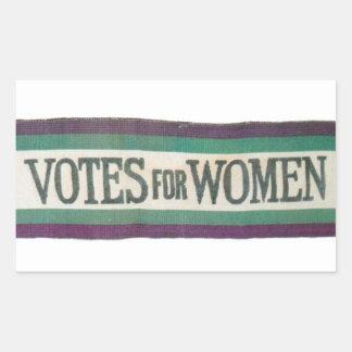 Votos do Suffragette para a etiqueta das mulheres