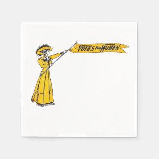 VOTOS para o partido do Suffragette dos guardanapo