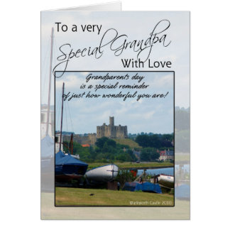 Vovô, cartão do dia das avós - castelo de