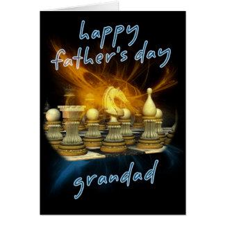 Vovô - cartão do dia dos pais - xadrez