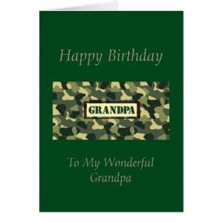 Vovô do feliz aniversario - Camo Cartão Comemorativo