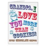 Vovô eu te amo mais do que biscoitos! cartoes