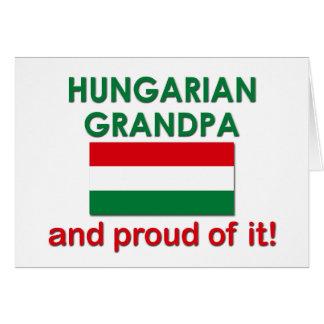 Vovô húngaro orgulhoso cartão comemorativo