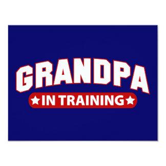 Vovô no treinamento convite 10.79 x 13.97cm
