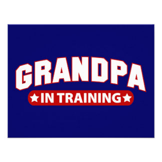 Vovô no treinamento convite personalizado