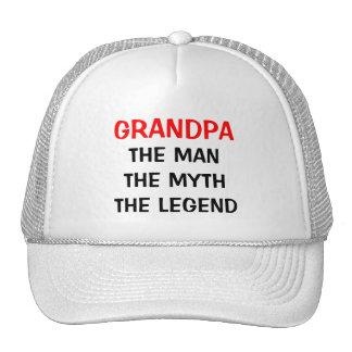Vovô o chapéu da legenda do mito do homem bone