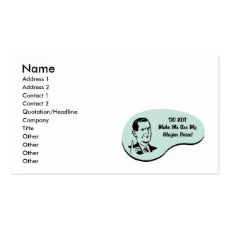 Voz do vidraceiro cartão de visita