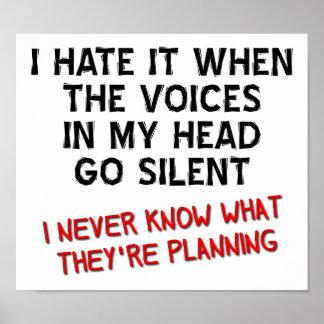 Vozes em meu poster engraçado principal