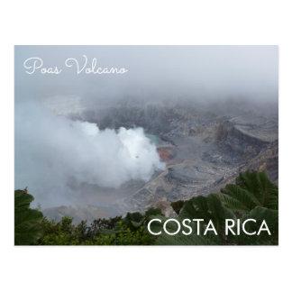 Vulcão de Poas, cartão de Costa Rica
