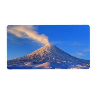 Vulcão Klyuchevskaya Sopka em Kamchatka Etiqueta De Frete