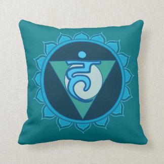 Vushuddha ou coxim azul de Chakra da garganta Almofada