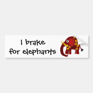 VW arte do primitivo do elefante e das margaridas Adesivo Para Carro