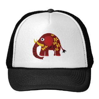 VW arte do primitivo do elefante e das margaridas Boné