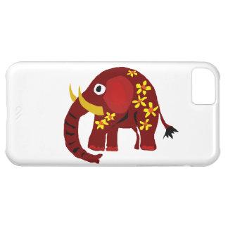 VW arte do primitivo do elefante e das margaridas Capa Para iPhone 5C