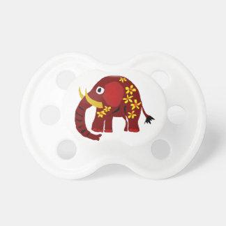 VW arte do primitivo do elefante e das margaridas Chupeta