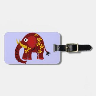 VW arte do primitivo do elefante e das margaridas Etiquetas Para Bagagem
