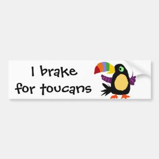 VW arte engraçada do primitivo do pássaro de Touca Adesivo