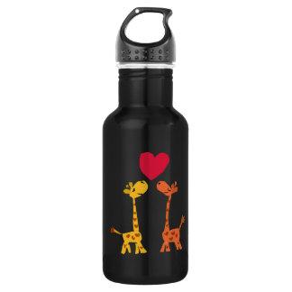 VW desenhos animados engraçados do amor do girafa
