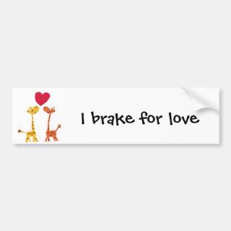 VW desenhos animados engraçados do amor do girafa Adesivo Para Carro