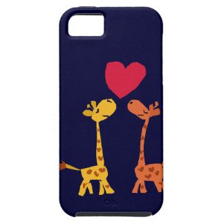 VW desenhos animados engraçados do amor do girafa Capa Para iPhone 5