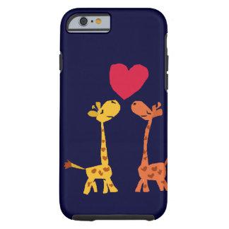 VW desenhos animados engraçados do amor do girafa Capa Tough Para iPhone 6