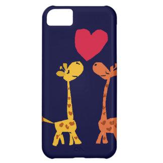 VW desenhos animados engraçados do amor do girafa Capa Para iPhone 5C
