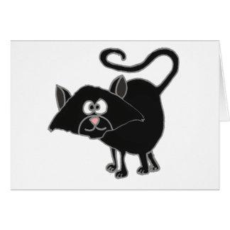 VW desenhos animados engraçados do gato preto Cartões