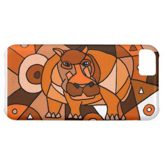 VW design da arte abstracta do hipopótamo Capa Para iPhone 5C