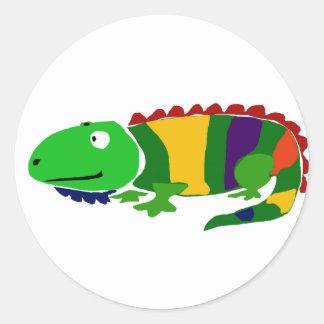 VW iguana primitiva Funky da arte Adesivo