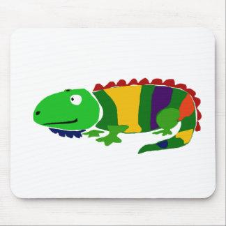 VW iguana primitiva Funky da arte Mouse Pad