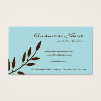 W azul/cartões de visitas castanho chocolate da cartão de visitas