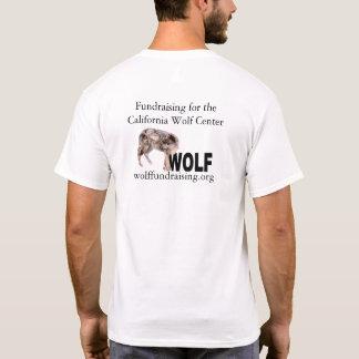 W.O.L.F. Camisa do logotipo dos homens