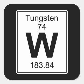 W - Tungstênio Adesivo Quadrado