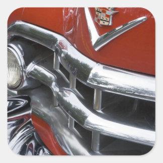 WA, Seattle, automóvel americano clássico. 4 Adesivo Quadrado