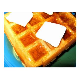 Waffles elétricos cartão postal