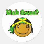 wah gwan adesivo em formato redondo