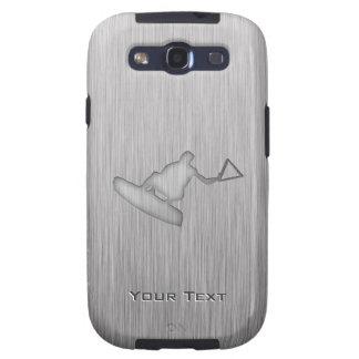 Wakeboarder escovado do Metal-olhar Capa Personalizadas Samsung Galaxy S3