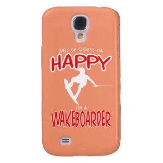 WAKEBOARDER FELIZ (branco) Capas Samsung Galaxy S4