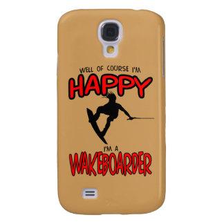 WAKEBOARDER FELIZ (preto) Galaxy S4 Cases
