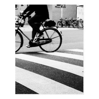 Walk Bicycle on cross Cartão Postal