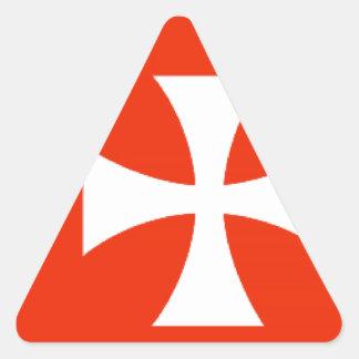 Wallis e bandeira de Futuna Adesivo Triangular