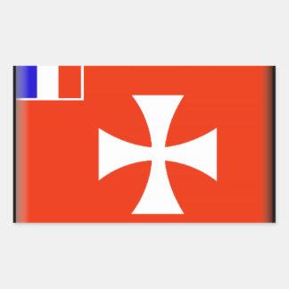 Wallis e bandeira de Futuna Adesivos Em Forma Retangular