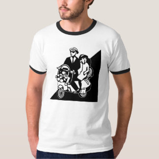Walt Jabsco & batida Betty em um patinete T-shirts
