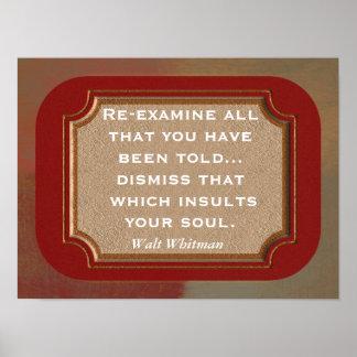 Walt Whitman --- citações-- impressão