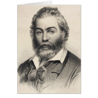 """Walt Whitman """"felicidade neste lugar, esta hora """" Cartão De Nota"""