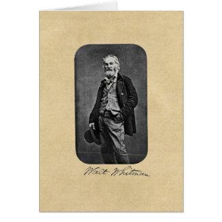 """Walt Whitman """"tome que cartão à estrada aberta"""""""