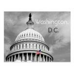 Washington, cartão preto e branco da bandeira da C Cartão Postal
